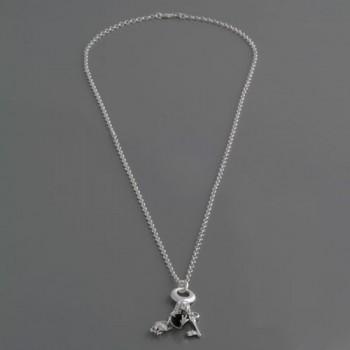 Halskette mit Charms Froschkönig