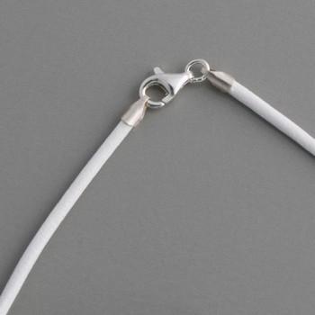 Lederband weiß 2mm, Länge 55cm