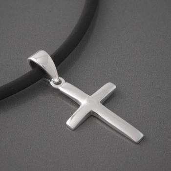 Kreuzanhänger Silber Jakob, glänzend
