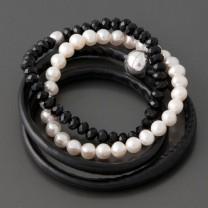 Armband-Set Noir