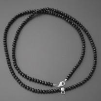 Halskette Glasperlen schwarz