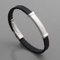 Armband Edelstahl Kautschuk Troja FL Paris