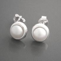 Ohrstecker Silber Perle Elodie