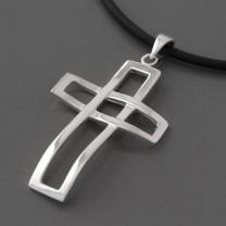 Kreuzanhänger Silber Alexander
