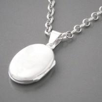 Anhänger Medaillon Silber oval