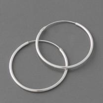 Creole Silber, 3 cm