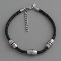 FL PARIS Leder-Edelstahl-Armband