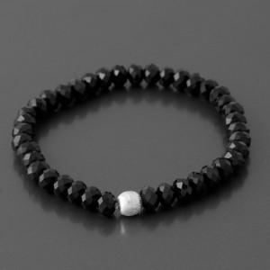 Armband Glasperlen schwarz