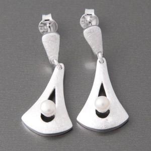 Ohrhänger Silber Perle Victoria