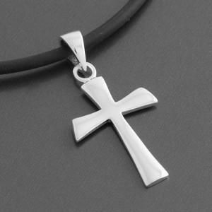 Kreuzanhänger Silber 925 matt Luca