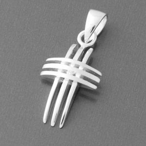 Kreuzanhänger Silber Forza