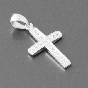 Kreuzanhänger Silber Zirkonia Elo