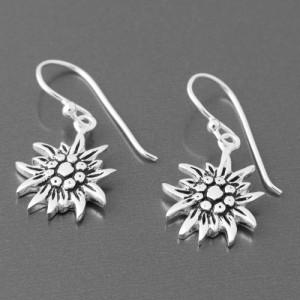 Ohrhänger Silber Edelweiss Blüte