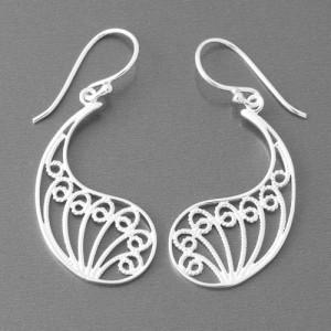 Ohrhänger Silber Paisley Motiv