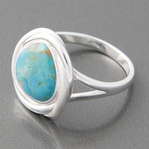 Ring Silber Türkis Adina