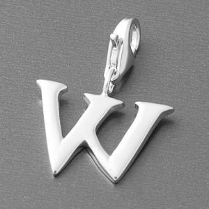 Charm Buchstaben-Anhänger W