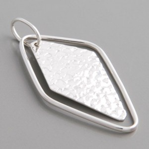 Silberanhänger Rombus