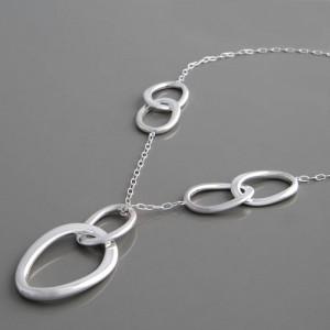 Silbercollier ovale