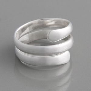 Ring gedreht Silber matt