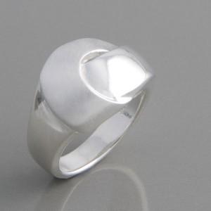 Silberring poliert und matt Ringgröße 52 bis 62