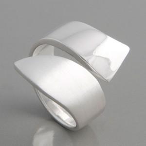 Silberring Duett Ringgröße 52 bis 62