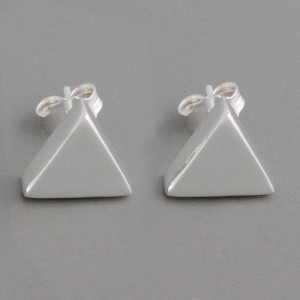 Silberohrstecker Pyramide
