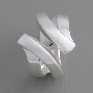 Silberring offene Form Ringgröße 52 bis 62