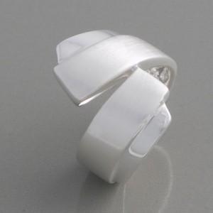 Silberring gewickelt Ringgröße 52 bis 62