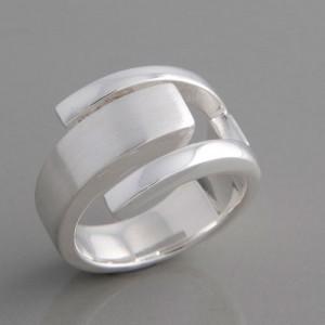 Silberring gezapft Ringgröße 52 bis 62