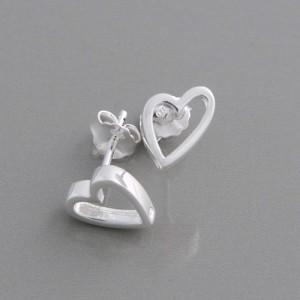 Silber-Ohrstecker Heart