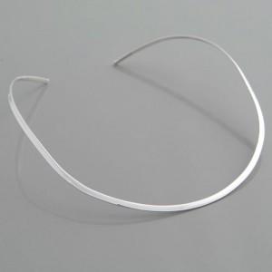 Halsreif Silber flach 3 mm
