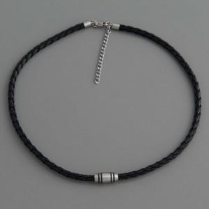 Halskette Kunst-Leder FL Paris Länge 45cm bis 50cm
