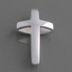 Kreuzanhänger Silber gewölbt, glänzend