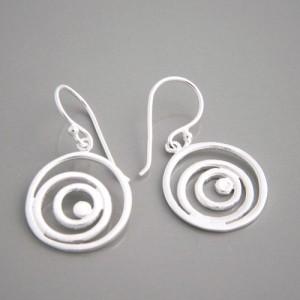 Ohrhänger Silber Spirale