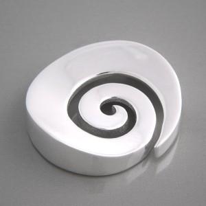 Kettenanhänger Silber Spirale glänzend