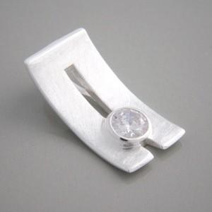 Silberanhänger Zirkonia weiß