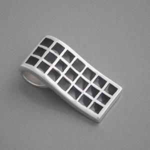 Silberanhänger Emaille schwarz
