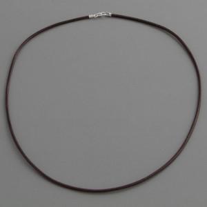 Lederkette braun 2mm, Länge 40cm