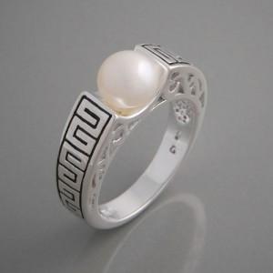 Ring Silber Perle Sherizade Größe 52 bis 60