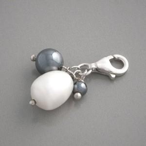 Charm-Anhänger Perle Hämatit