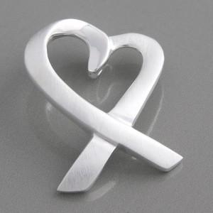 Anhänger Silber Herz Schleife