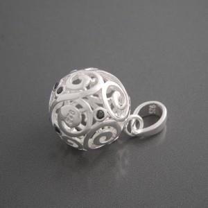 Kugelanhänger Silber Oriental