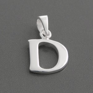 Anhänger Silber Buchstabe D