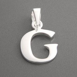 Buchstaben Anhänger Silber G