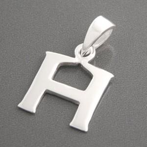Buchstaben Anhänger Silber H