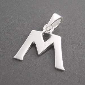 Anhänger Silber Buchstabe M