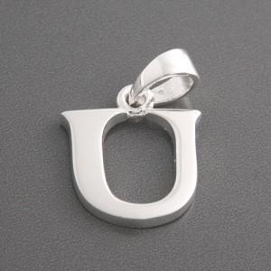 Buchstaben Anhänger Silber U