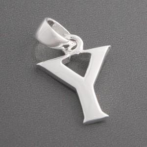Buchstaben Anhänger Silber Y