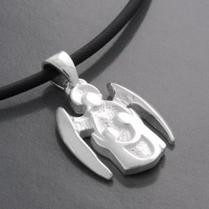 Schutzengel Kettenanhänger Silber