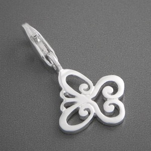 Charm-Anhänger Silber Schmetterling